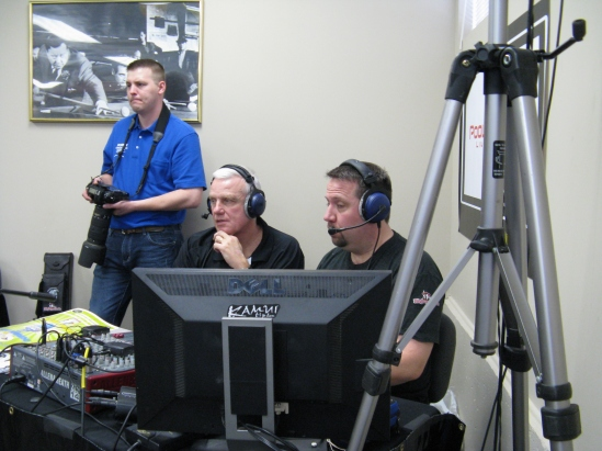 "Mark Wilson and Jay Hansen commentating. Jay Hansen is also known as ""Big Truck"" in the pool streaming world."